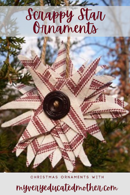 Christmas Ornament Fabric Scraps Star