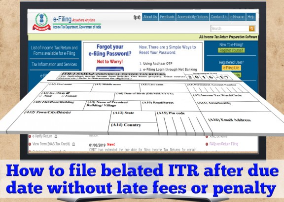 No Penalty for Late Filing of Income Tax Return