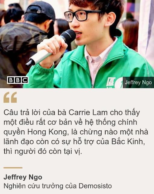 'Người Hong Kong không hài lòng' với lời xin lỗi của bà Lam