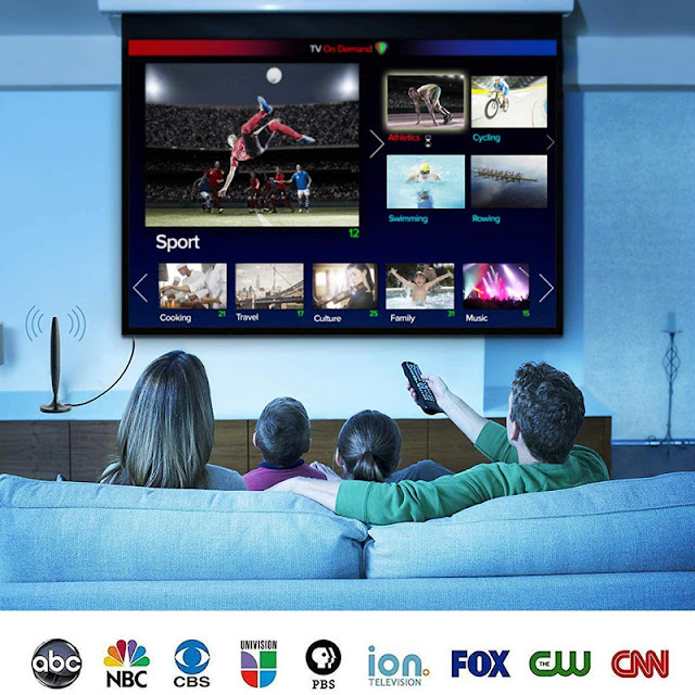 TV Antenna Digital TV Receiver Indoor Outdoor HDTV Antennas With Amplifier 1500 Miles DVB-T2 ISDB-T Satellite Aerial