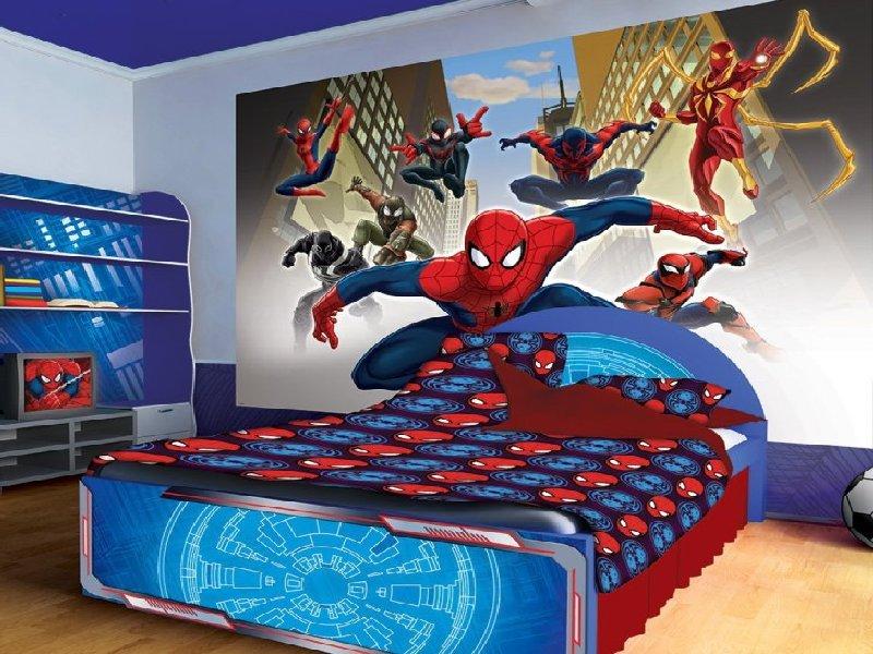 15 Desain Kamar Tidur Untuk Anak Laki Dengan Tema Spiderman Plafon Gypsum Larantuka