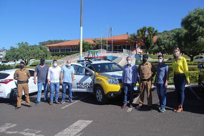 Um novo tempo: Nova Laranjeiras recebe viatura  nova para a Polícia Militar