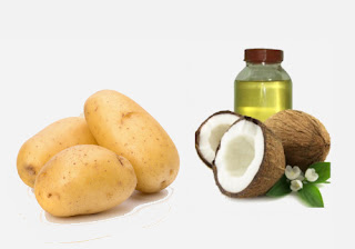 Potato and Coconut Oil Pack