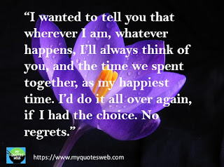 I wanted to tell you that wherever I am | romantic quotes