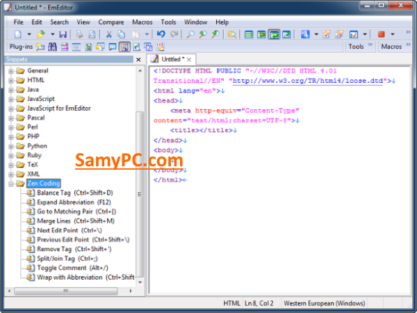 EmEditor Professional Free Download Full Version