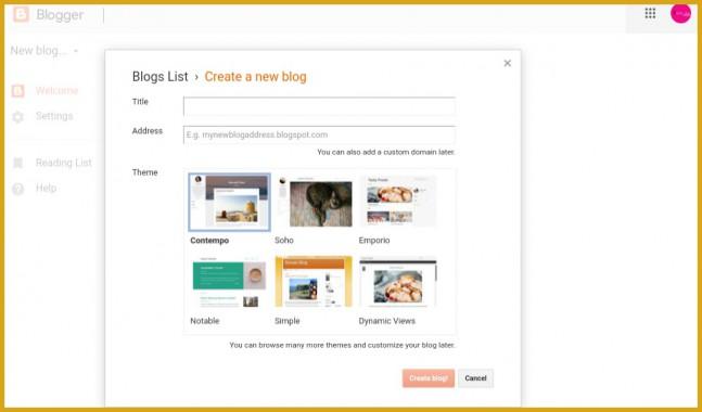 Blog-creation