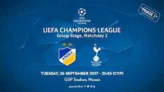 Εισιτήρια αγώνα: APOEL FC - Tottenham Hotspur FC