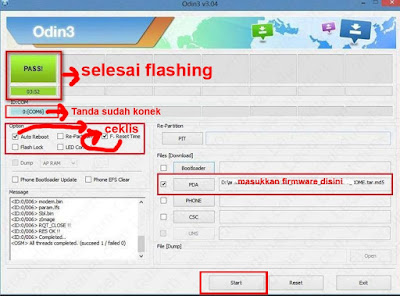 Odin download untuk flash samsung galaxy