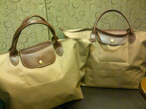 748f83dbba9 My friend and I both have a medium short handle in beige. Both items were  purchased at a Longchamp store overseas. There is no difference on  construction ...