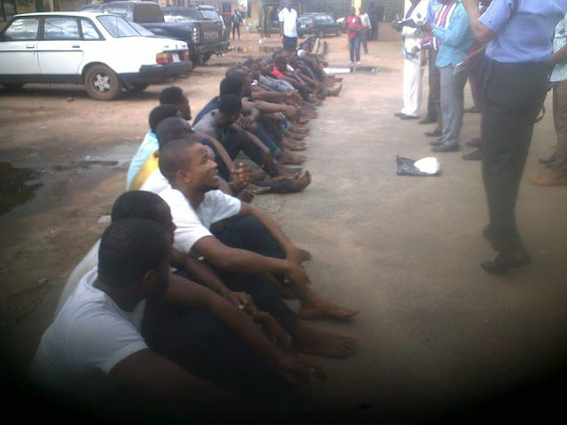 Imo police command parades suspected cultists from Poly Nekede and it's environs (photos)