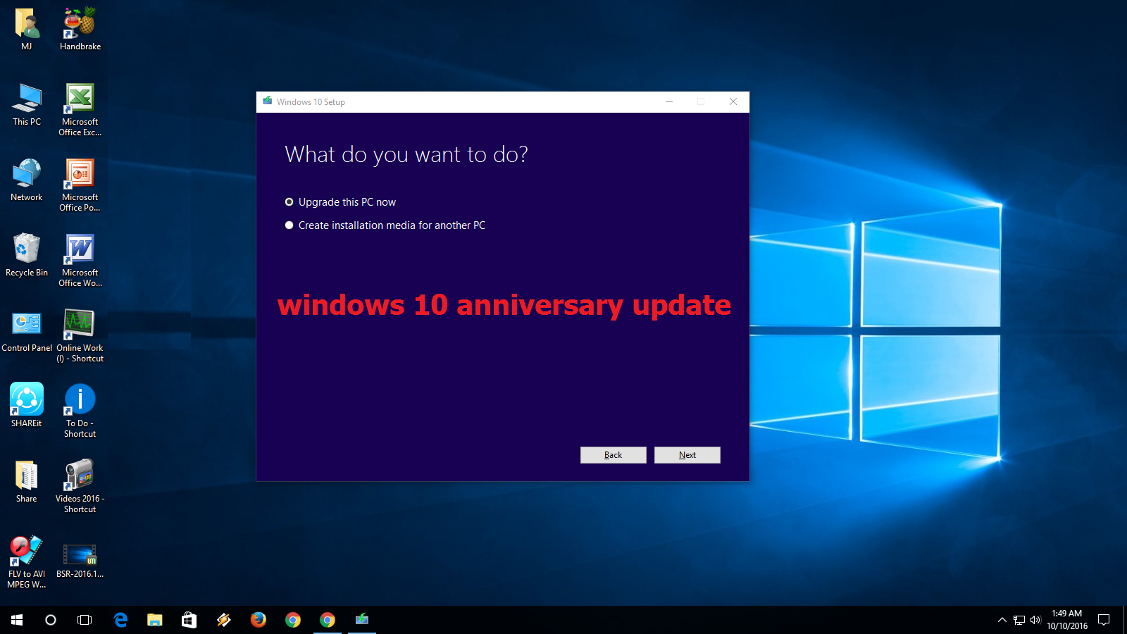 windows 10 setup getting updates