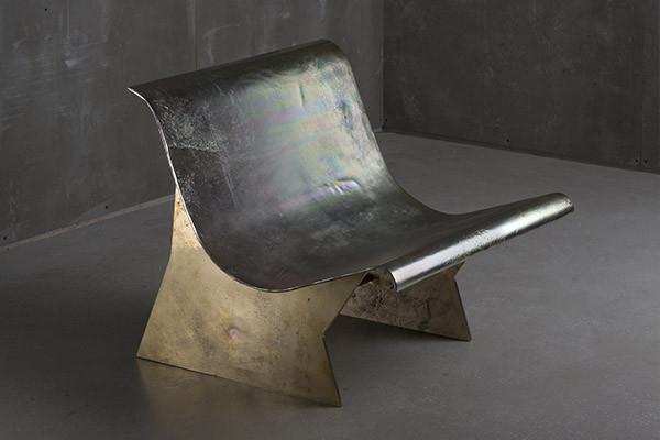 cast aluminium brass chair