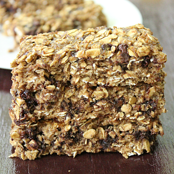 Soft Oatmeal Banana Chocolate Chip Bars from Table for Seven