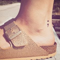 Semicolon Symbolic Tattoos on Heels