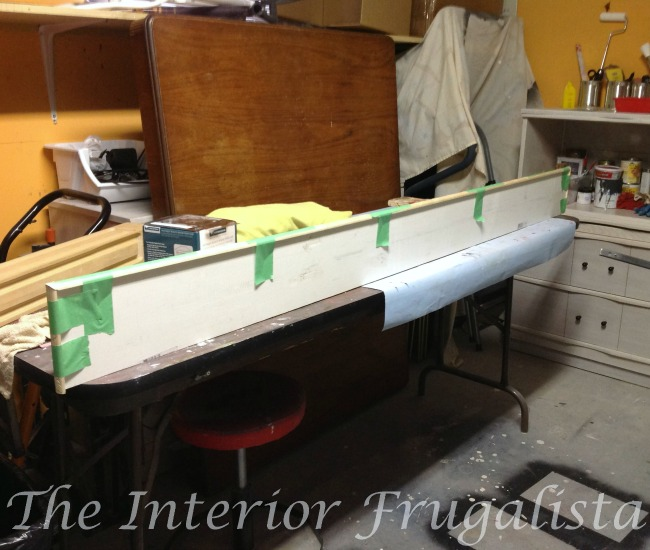 Building Mantel Shelf For Old Headboard Door