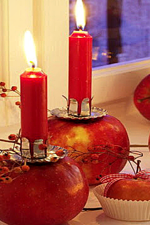 DIY craft ideas - Apple votives-Weddings By K'Mich- Philadelphia PA