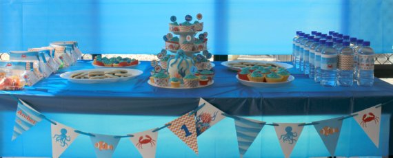 Under the sea/Ocean dessert table by Love That Party. www.lovethatparty.com.au