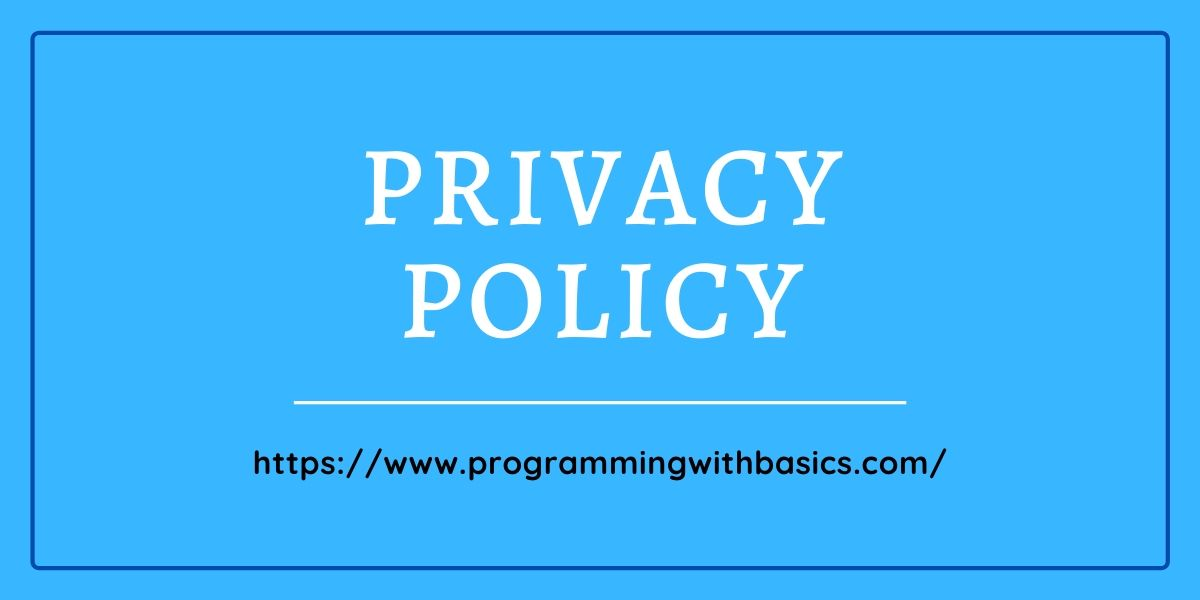 Create a Privacy Policy for Blogger