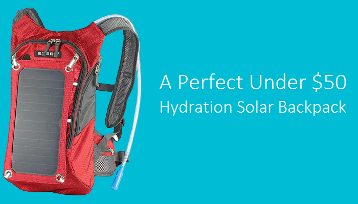 ECEEN Hydration Solar Backpack (Under $50)