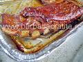 Coastele de porc in tava proaspat scoasa din cuptor