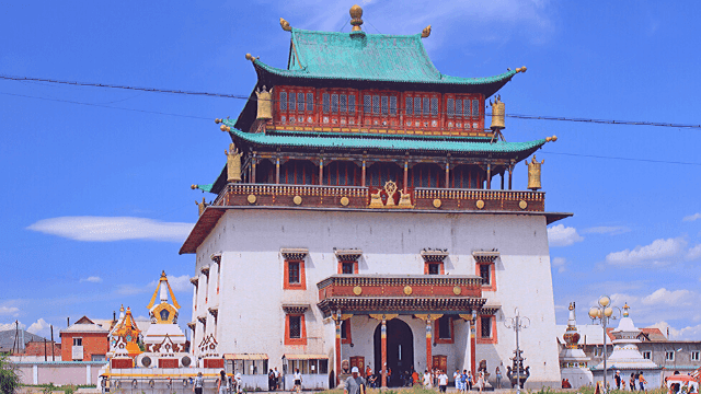Best Places To visit in Mongolia and Tourist Attractions.The Gandantegchinlen Monastery.