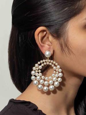 White Marquee Pearl Earrings