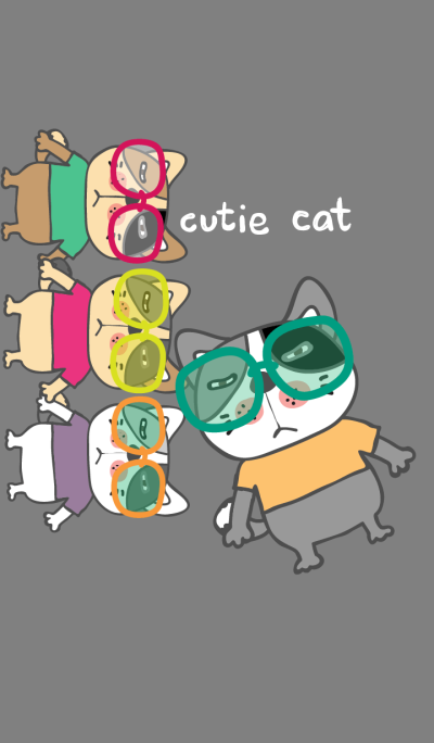 Colorful day 8 (Cutie Cat)