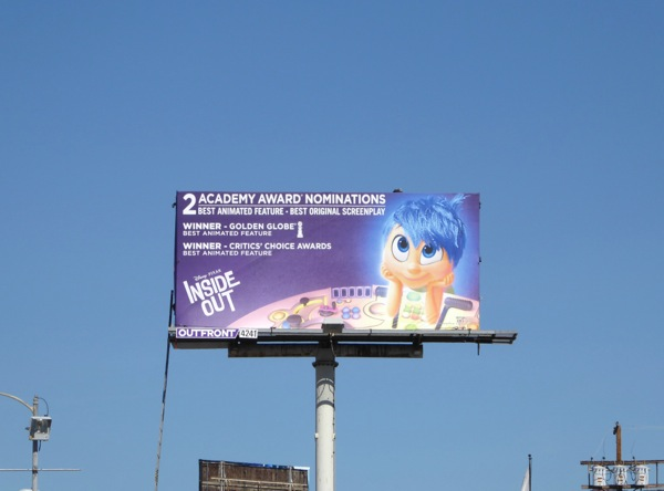 Inside Out Oscar consideration billboard