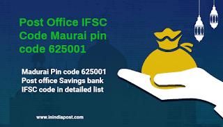 Post Office IFSC code Madurai