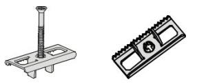 posisi pemasangan klip dimana gigi klip dipasangkan pada papan terdahulunya