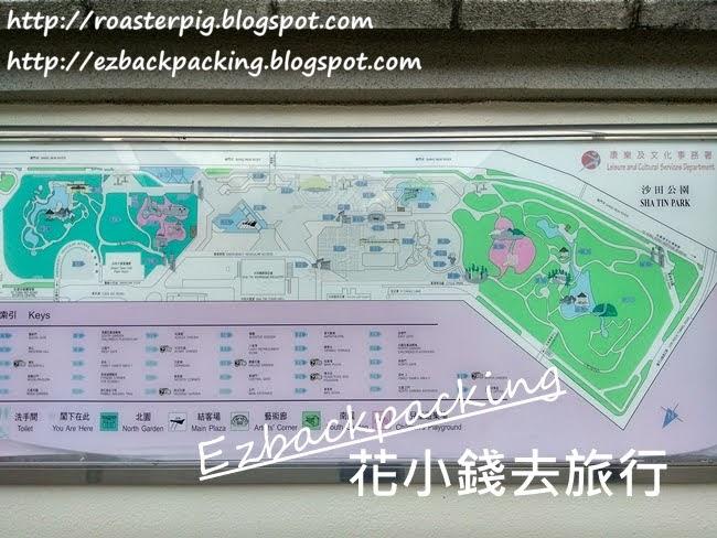 沙田公園地圖