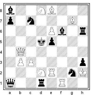 Problema de mate en 2 compuesto por Miguel Uris (7º Premio, 6ª Copa FIDE 2018)