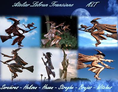 Heks, windvaan, windheks, koper, Witch, copper, weathervane, hexe, kupfer