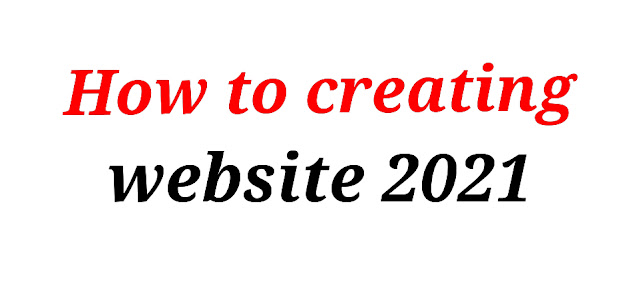 How to creating website 2021