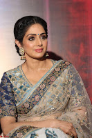 Sri Devi in designer saree stunning beauty at the launch of MOM movie Trailer~  Exclusive 124.JPG