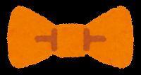 蝶ネクタイのイラスト(オレンジ)