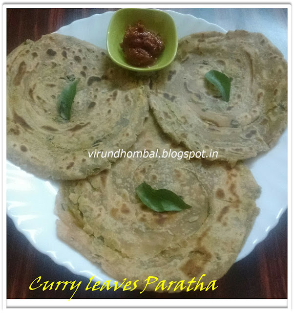 Curry leaves paratha, Paratha recipes