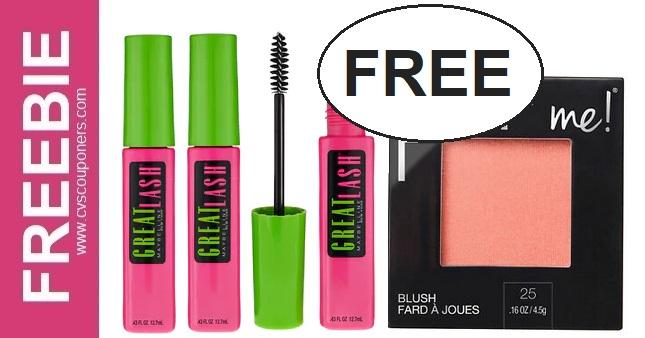FREE Maybelline Mascara CVS Deal 1/10-1/16