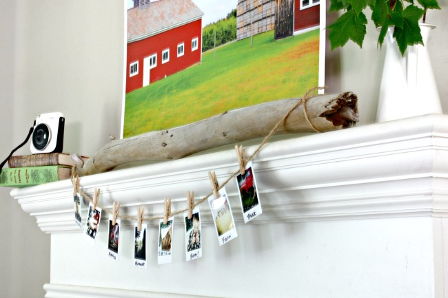 Instant photo display ideas