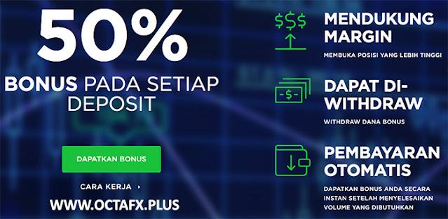 Bonus Deposit 50% OCTAFX