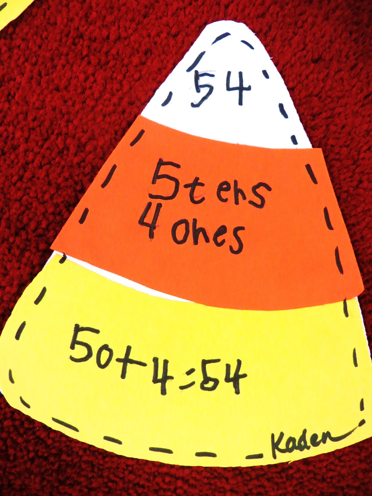 First Grade Wow Candy Corn Connection