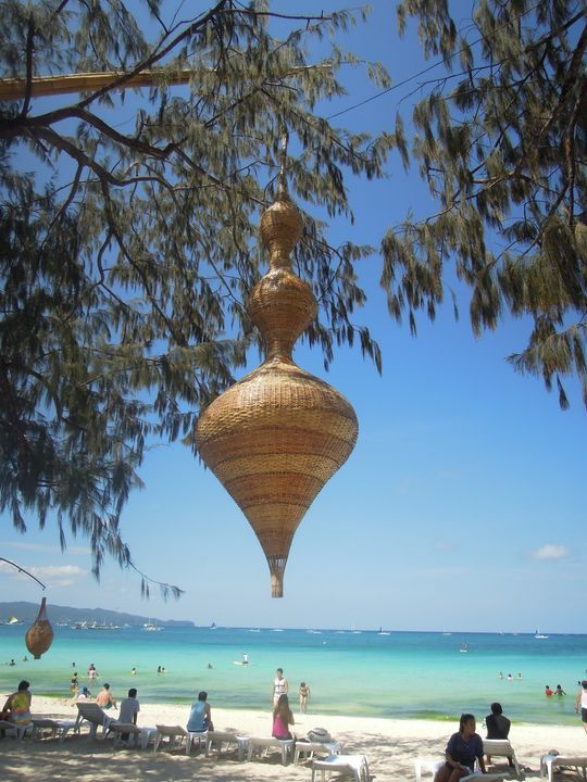 A giant native decor in Boracay
