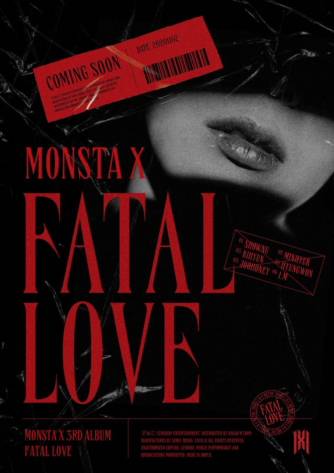 MONSTA X will Comeback With Full Album 'Fatal Love'