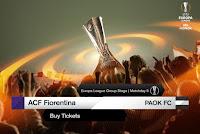 Τιμές και τρόποι διάθεσης των εισιτηρίων της αναμέτρησης Φιορεντίνα - ΠΑΟΚ