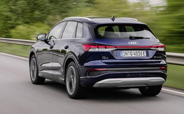 O Audi Q4 e-tron SUV e Sportback agradam em testes na Europa