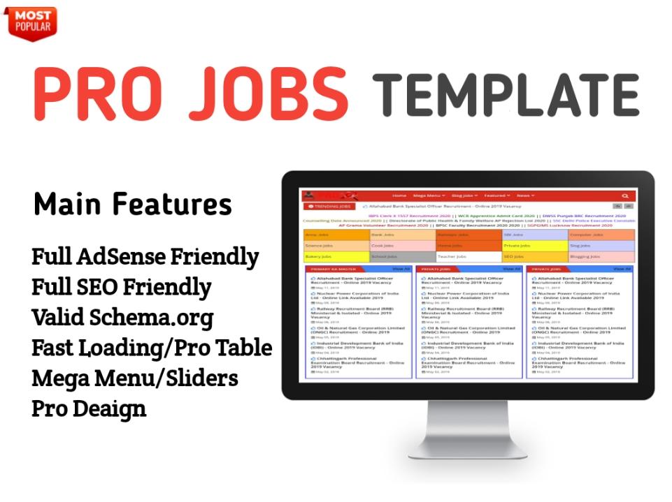 Pro Job Blogger Template - Responsive Blogger Template
