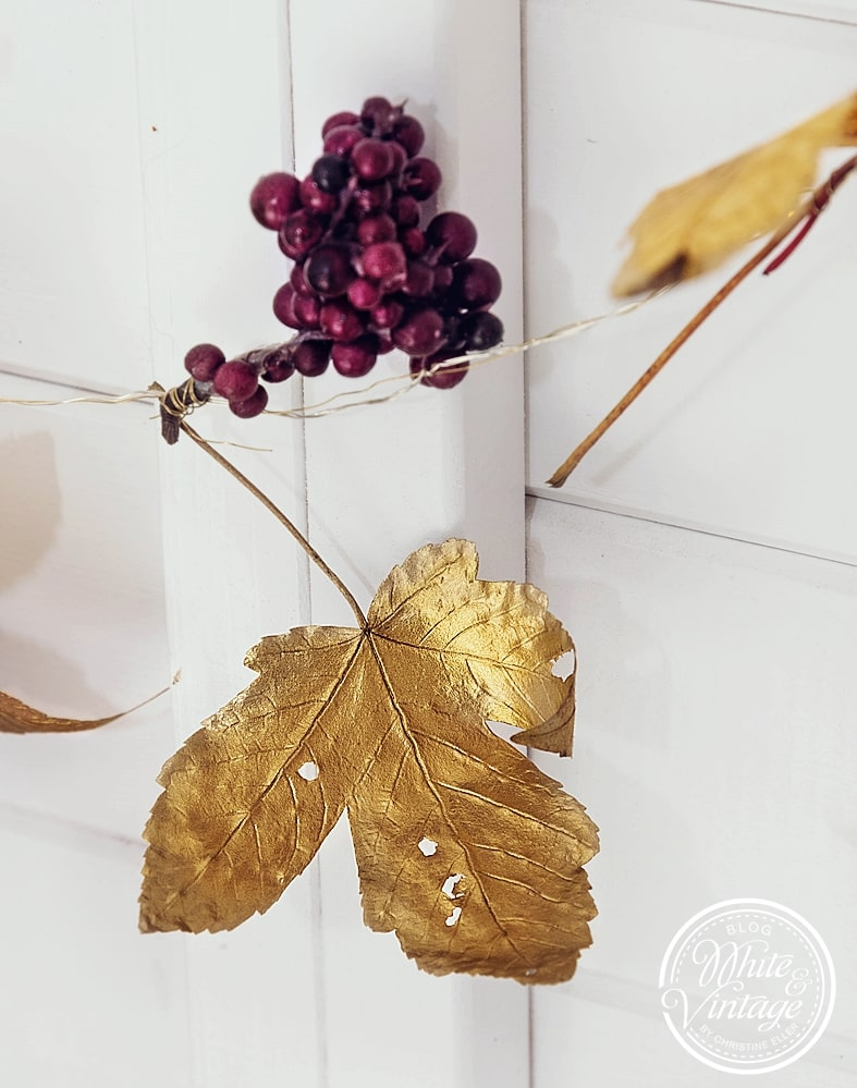 DIY-Deko Herbstgirlande basteln.