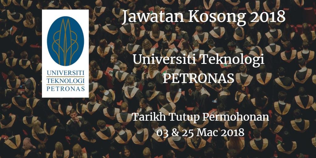 Jawatan Kosong UTP 03 - 25 Mac 2018