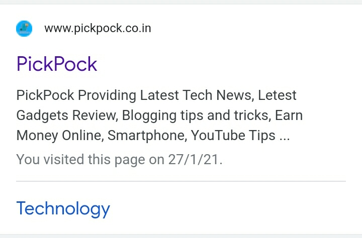 PickPock rank in Google, PickPock google rank,