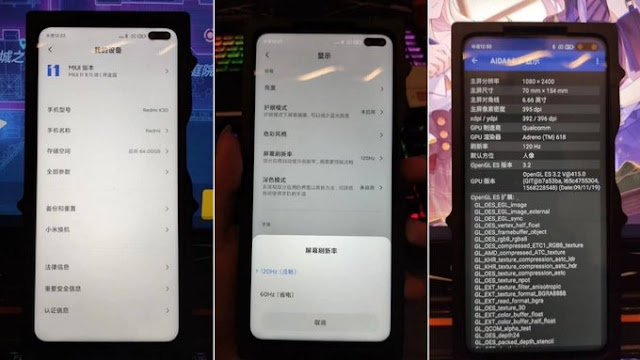 Redmi K30 images leaked features punch-hole design, 120Hz display